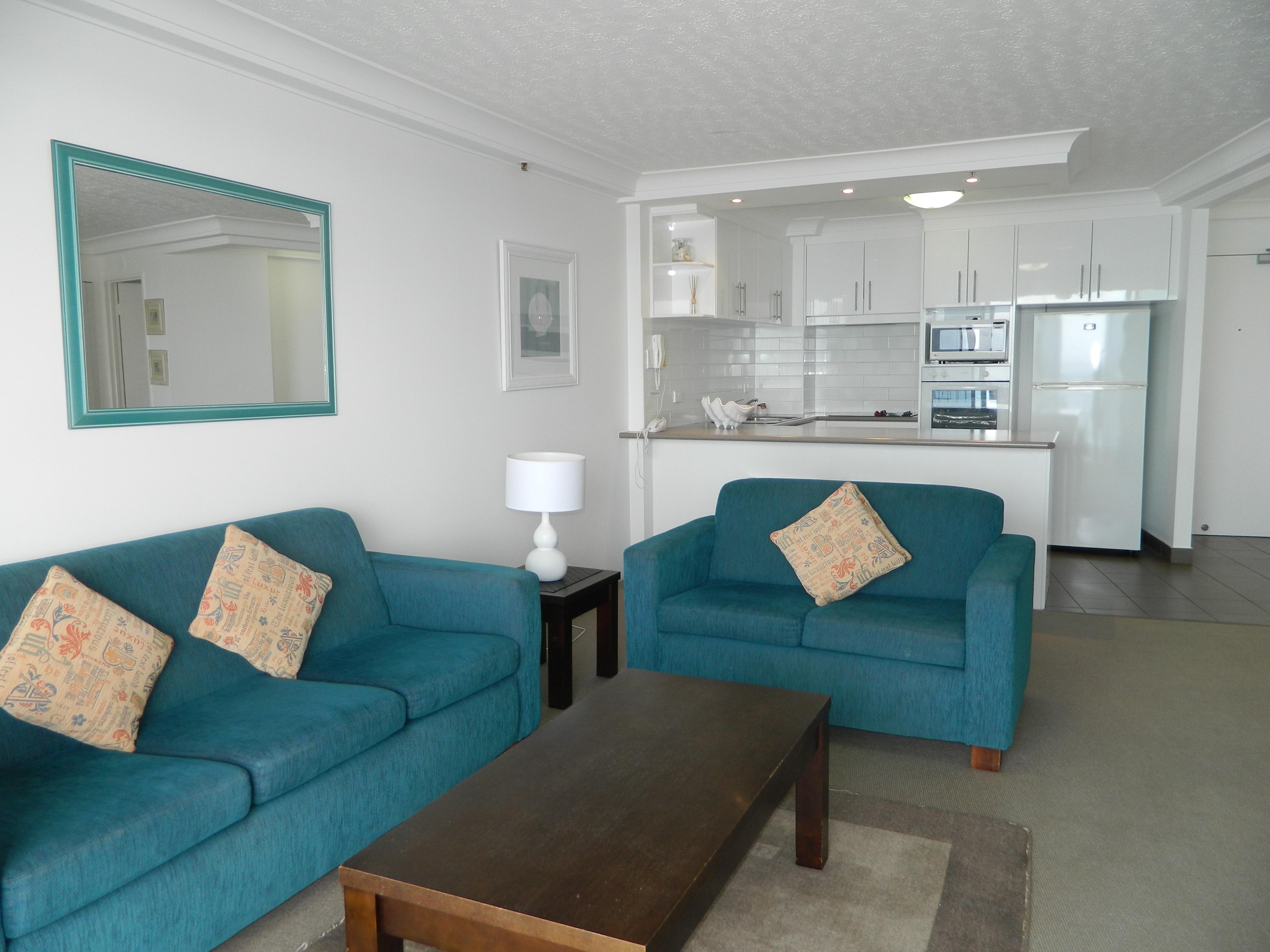 Royal Palm Resort Accommodation Lounge Kitchen